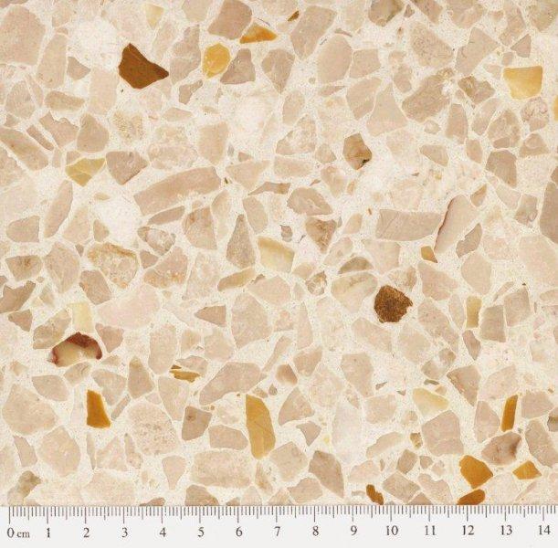 Eurogolv cementmosaik konstbetong fogplatt terrazzo agglo baghin ecostone agglobaghin® old style CREMA ORO EM 1073